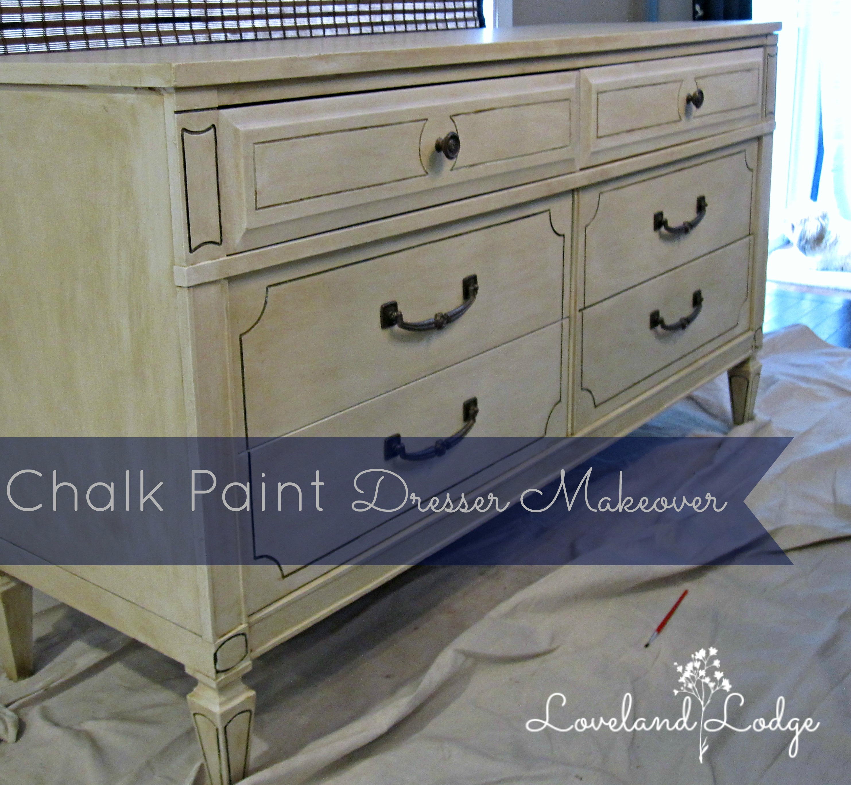 Chalk paint makeover dresser into tv stand loveland lodge - Before and after old dressers makeover with a little paint ...